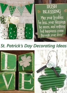 St Patricks Day decorating ideas and decor finds from Etsy!