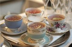 tea cup cocktails