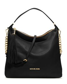 MICHAEL Michael Kors  Large Weston Pebbled Shoulder Bag. pretty good!!