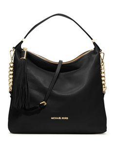 MICHAEL Michael Kors  Large Weston Pebbled Shoulder Bag. My favorite handbag designer!!! Can't go wrong with a black handbag