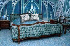 8 Enchanting Disney Bedrooms - A Frozen Palace Room Girls Bedroom, Bedroom Decor, Bedroom Ideas, Blue Bedroom, Master Bedroom, Art Nouveau, Fairytale Bedroom, Frozen Bedroom, Disney Bedrooms