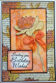 Made by Gail Parker using Tim Holtz Flower Garden stamps, Distress inks and Distress markers.
