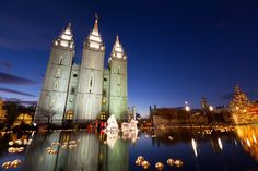 Salt Lake LDS/Mormon Temple Square Lights