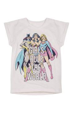 3949d8951d236 Primark - Girls Rule The World Superhero T-Shirt Batgirl Supergirl Wonder Woman  Superhero Fashion