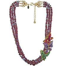 NEW KIRKS FOLLY BUTTERFLY MAGIC BEADED NECKLACE GOLDTONE