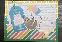 Happy Cake Day by Pebbles.  Design by Debra Lord for Scrappin' in the City. Happy Cake Day, Make A Wish, How To Make, Lord, City, Birthday, Fun, Design, Lol
