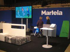 Martela in Educa Fair / Helsinki Helsinki, Exhibitions, Flat Screen, Tv, Flat Screen Display, Flatscreen, Television Set, Television
