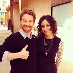 West Coast watch #TheTalk now w/ @THEsaragilbert's longtime pal @SethGreen! #toocute
