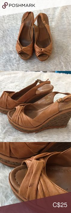 Very comfortable. Previously loved and has some discolouration spots on the leather (shown in photos). Tan Wedges, Leather Espadrilles, Aldo Shoes, Moccasins, Soft Leather, Best Deals, Photos, Closet, Things To Sell