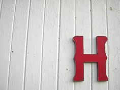 Wooden Letter H 12 inch Red Shabby chic Wedding by LettersofWood, $28.00