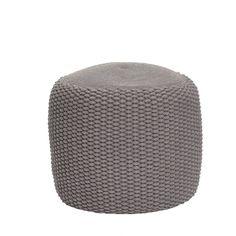 Jednoduchý+a+elegantní+pletený+taburet+šedé+barvy+je+velmi+pohodlný+k+sezení,+skvěle+poslouží+i+jako+podnožka.+Dodáváme+již+vyplněný