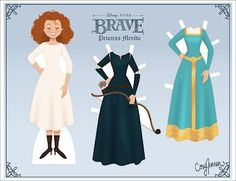 Merida cut out paper doll craft.