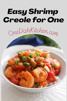 This is the easiest Shrimp Creole recipe! A classic Louisiana dish made with garlic, onions, bell peppers, and tomatoes. Based on my family's recipe, this New Orleans favorite will soon become a favorite of yours too!