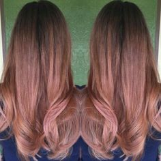 Rose Gold, Balayage, highlights