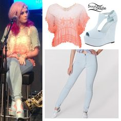 Perrie Edwards: Crochet Top, Easy Jeans | Steal Her Style