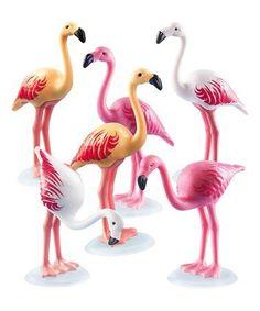 Another great find on #zulily! Flamingo Flock Figure Set #zulilyfinds