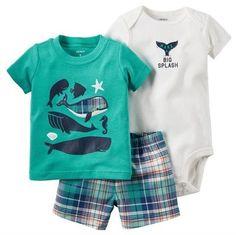 Carter's 3 Pcs Baby Children kids Little Short Set 121H349