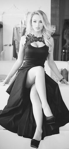 The photographer insisted on working in black and white, he said that I was so pretty, if he used color, I'd get men too excited. When we're done, I'm going to give him a great big kiss!