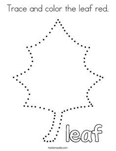 Fall Preschool, Preschool At Home, Preschool Learning Activities, Preschool Printables, Color Activities, Learning Centers, Preschool Crafts, Coloring Pages Nature, Leaf Coloring Page