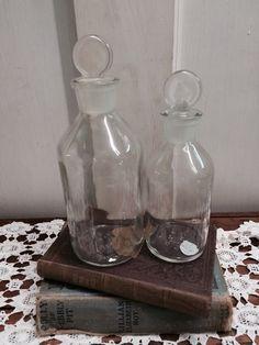 Set of USA Vitro Clear Glass Bottles by DaphsSmallWorld on Etsy
