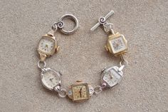 Vintage Watch Bracelet, Handmade Bracelet, Vintage, Jewelry Gift, Watch Jewelry, Vintage Fashion, Heirloom