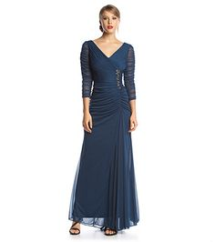 Adrianna Papell® Draped Gown | Boston Store