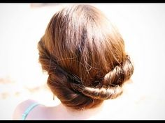 DIY Twisted Hair Updo. Cortes De Pelo RetorcidoPeinados ... 04d63097d7d