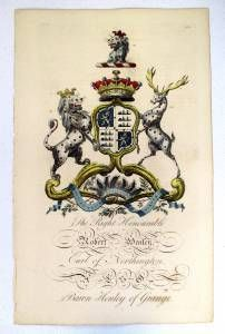 Edmondson Folio Heraldry Engraving Robert Henley 1700's Coat Of Arms 18th C