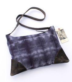 MADEBYHANK — large zippered shoulder bag in hand dyed canvas