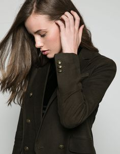 double-breasted velvet blazer. Discover this and many more items in Bershka with new products every week