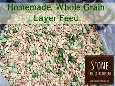 Homemade Whole Grain Layer Feed