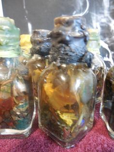 Witches Bottle (Custom Made): Money, Employment, Stability, Business Success, Love, Happiness, Peace, Protection By MaidenMotherCrone.etsy.com