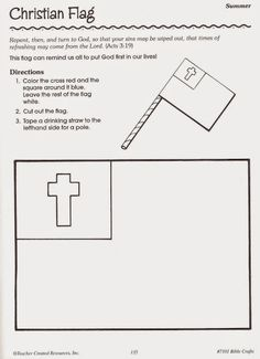 Bible Crafts-christian flag