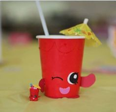 Shopkins bday cup. By Stacey Tannehill.From shopkins fb page.