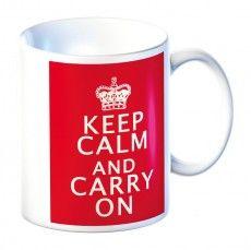 Keep Calm & Carry On Mug - Red