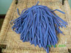 100 Hand Dyed   Wool Rug Hooking Strips  Blue Violets
