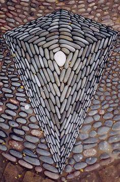 "Detail from pebble mosaic installation ""Starpool"""