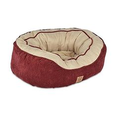 Precision Pet Daydreamer Gusset Bed, 32 by 25 by 10.5-Inch, Burgundy -- Learn more by visiting the image link. #DogBedsFurniture