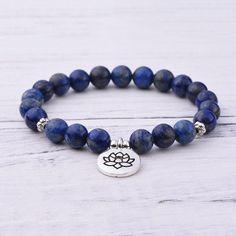 Lapis Lazuli Third Eye Chakra Bracelet Lapis Lazuli Bracelet, Third Eye Chakra, Chakra Bracelet, Bracelet Sizes, Crystal Bracelets, Gemstones, Pearls, Crystals, Jewelry