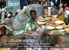 Amy est la coordinatrice de notre projet de terrain luttant contre la mortalité maternelle et infantile dans les pays en voie de développement. Pour fêter son #anniversaire, elle lance une campagne de collecte de fonds pour financer des kits d'accouchement qui permettront à des femmes d'accoucher dans de meilleures conditions d'hygiène ! A cette occasion et jusqu'au 15 septembre, #W4 lance une #OperationMatching : pour chaque kit financé, W4 s'engage à financer un second kit !