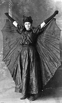 Victorian bat costume, 1882.                                                                                                                                                                                 More
