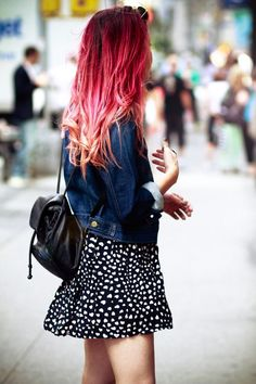 pink and red ombre hair - Google Search