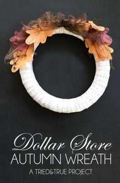 Dollar Store Crafts: Fabulous Fall Wreath