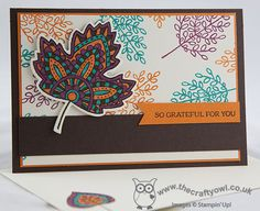 The Crafty Owl | Lighthearted Leaves And The Joys of Colouring!