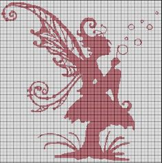 Elfe_aux_bulles   Elf cross stitch pattern
