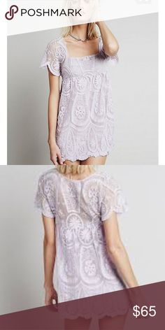 *Rare* Free People and Jena Pirate Booty Dress Beautiful lavender Jen's Pirate Booty and FP lace dress great condition. This dress is solid lace... you have to wear a slip under it but it looks INCREDIBLE over a swim suit or nude slip. Free People Dresses