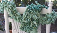 Bulky Hand Knit Scarf in Green  Super Soft Handspun by bpenatzer, $83.00