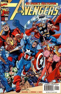Avengers Vol. 3 # 1 by George Pérez & Al Vey