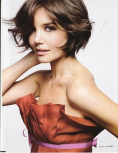 This hair but longer.....Katie Holmes's Best Magazine Editorials Photo 33