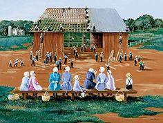 Barn Raising a 500-Piece Jigsaw Puzzle by Sunsout Inc. Su...